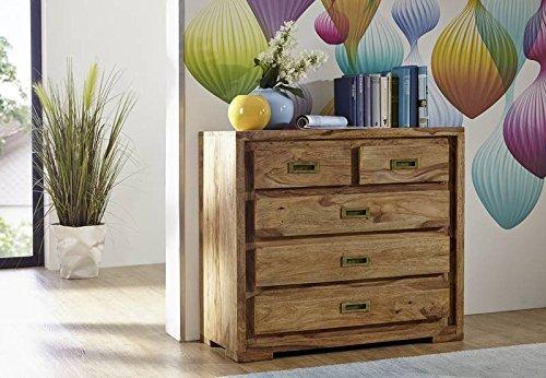 palisander holz m bel massiv ge lt kommode sheesham massivm bel holz massiv braun nature brown. Black Bedroom Furniture Sets. Home Design Ideas