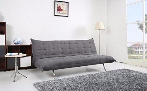 Pedro schlafsofa schlafsofa sofa couch stoff grau merliert for Moebel24 shop