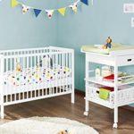 Pinolino 091427 2-Teilig, Kleines Kinderbett und Wickeltisch, Kiefer Teilmassiv, 120 X 60 cm, weiß lackiert