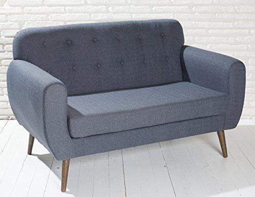 polstersofa in dunkelgrau mit holzbeinen sofa grau. Black Bedroom Furniture Sets. Home Design Ideas