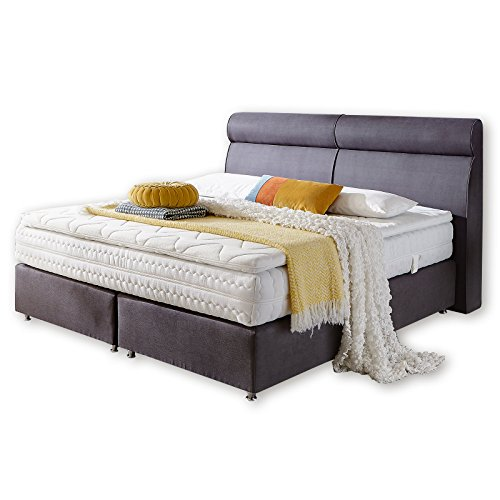 bettgestell topas dunkelgrau boxspringbett 180x200 cm m bel24. Black Bedroom Furniture Sets. Home Design Ideas