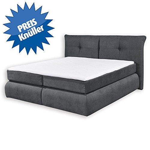 roller boxspringbett liverpool anthrazit tonnentaschenfederkernmatratze 180x200 cm m bel24. Black Bedroom Furniture Sets. Home Design Ideas