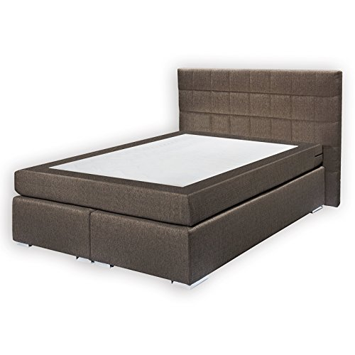 roller boxspringbett miami braun federkernmatratze 140x200 cm m bel24. Black Bedroom Furniture Sets. Home Design Ideas