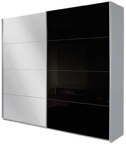rauch schwebet renschrank mit spiegel 2 t rig glasabsetzungen schwarz bxhxt 270x210x62 cm. Black Bedroom Furniture Sets. Home Design Ideas