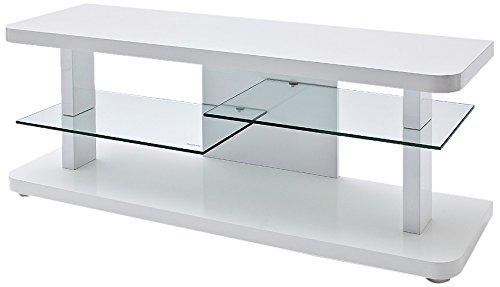 robas lund 59078w14 tv lowboard cult hochglanz wei 2 glasb den b t h circa 110 x 40 x 50 cm. Black Bedroom Furniture Sets. Home Design Ideas