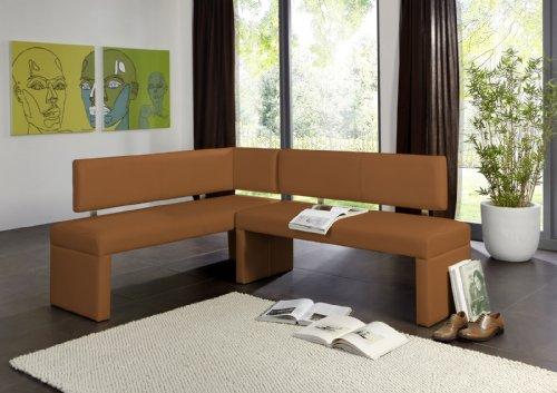 SAM Eckbank Sono in cappuccino, Rechte Seite 180 cm, Linke Seite 130 cm, Sitzbank mit Rückenlehne aus Samolux®-Bezug, angenehmer Sitzkomfort