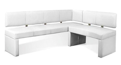 SAM® Eckbank Laselena in weiß ihre Variante 170 x 217,5 cm andere Größen wählbar (133,5 / 153,4 / 178,5 / 193,5 /233,5 / 253,5) links und rechts aufbaubar flexibel montierbar