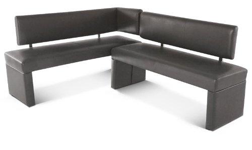 SAM® Eckbank Sabatina in grau 195 x 152 cm, beidseitig aufbaubar, komplett bezogene Bank, angenehme Polsterung, pflegeleicht