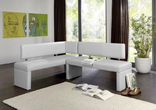 SAM® Eckbank Selena in weiß 195 x 152 cm komplett bezogen