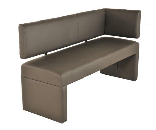 SAM Esszimmer Ottomane Lasina, 150 cm, muddy, Sitzbank mit Rückenlehne aus Samolux®-Bezug, frei im Raum aufstellbare Bank