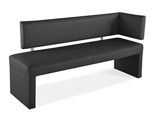 SAM® Ottomane Sitzbank, Eckbank Sabatina in grau, 150 cm Breite, gepolsterte Bank mit grauem Stoffbezug, beidseitig aufbaubar, angenehmer Sitzkomfort