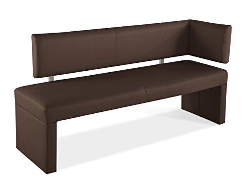 SAM® Esszimmer Ottomane, in braun, Sitzbank mit Rückenlehne aus Samolux®-Bezug, angenehmer Sitzkomfort, frei im Raum aufstellbare Bank, 150 cm