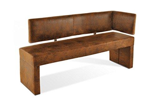 SAM® Ottomane Sitzbank, Eckbank Scarlett in Wildleder-Optik, 150 cm Breite, gepolsterte Bank mit braunem Stoffbezug, beidseitig aufbaubar, angenehmer Sitzkomfort