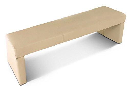 SAM® Sitzbank Tobago 140 cm in creme komplett bezogen angenehme Polsterung pflegeleicht