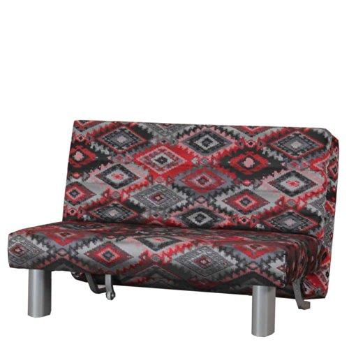 schlafsofa ayla in rot grau gemustert breite 140 cm sitzpltze 2 sitzpltze pharao24 0 m bel24. Black Bedroom Furniture Sets. Home Design Ideas