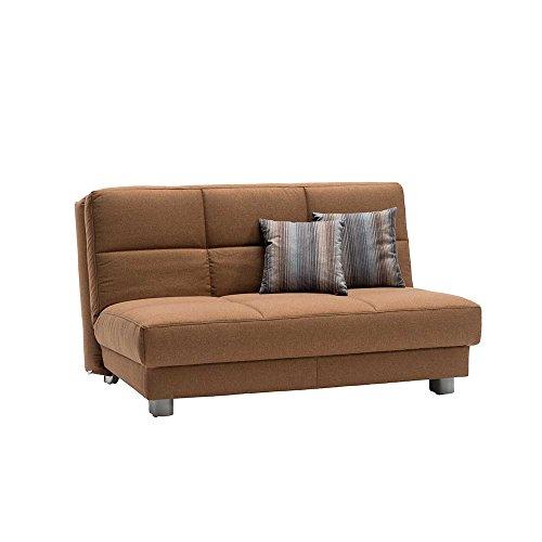 Schlafsofa in braun stoff breite 160 cm sitzpltze 3 for Schlafsofa breite 180 cm