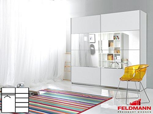 schwebet renschrank kleiderschrank 2 t rig 54025 wei wei mit spiegel 220cm m bel24. Black Bedroom Furniture Sets. Home Design Ideas