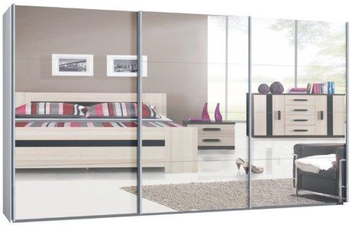 schwebet renschrank schiebet renschrank ca 400 cm wei mit spiegelfront m bel24 shop xxxl. Black Bedroom Furniture Sets. Home Design Ideas