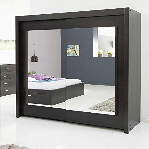 schwebetrenschrank mit spiegelfront braun pharao24 0 m bel24. Black Bedroom Furniture Sets. Home Design Ideas