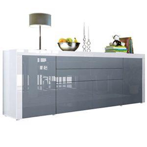 sideboard kommode la paz v2 in wei hochglanz grau hochglanz wei hochglanz 0 m bel24. Black Bedroom Furniture Sets. Home Design Ideas