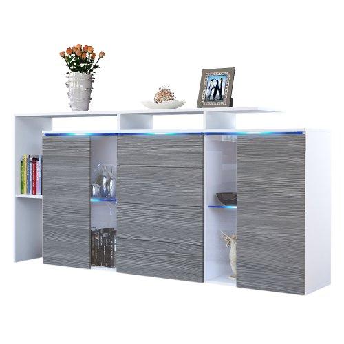 sideboard kommode lissabon in wei matt avola anthrazit 0 m bel24 shop xxxl. Black Bedroom Furniture Sets. Home Design Ideas
