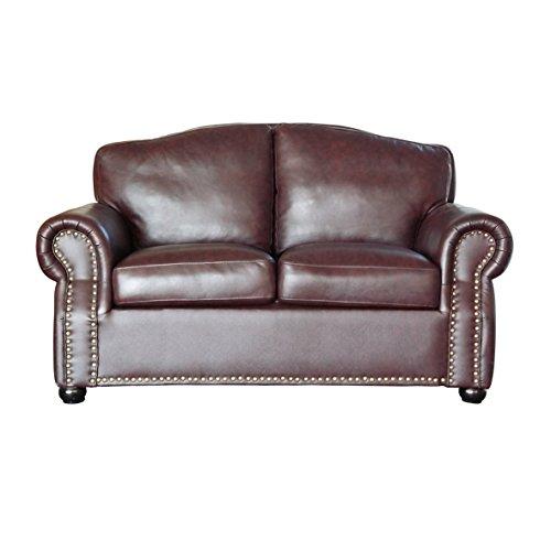 ledersofa 2 sitzer braun m bel24. Black Bedroom Furniture Sets. Home Design Ideas