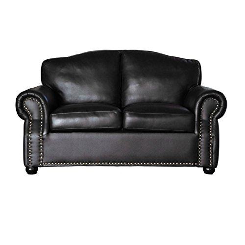 sir ledersofa 2er schwarz m bel24. Black Bedroom Furniture Sets. Home Design Ideas