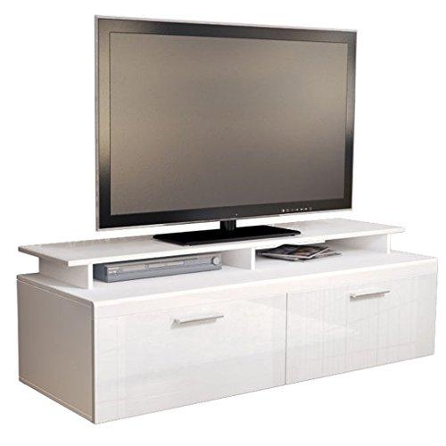 tv board lowboard atlanta in wei wei hochglanz mit tv aufsatz m bel24. Black Bedroom Furniture Sets. Home Design Ideas