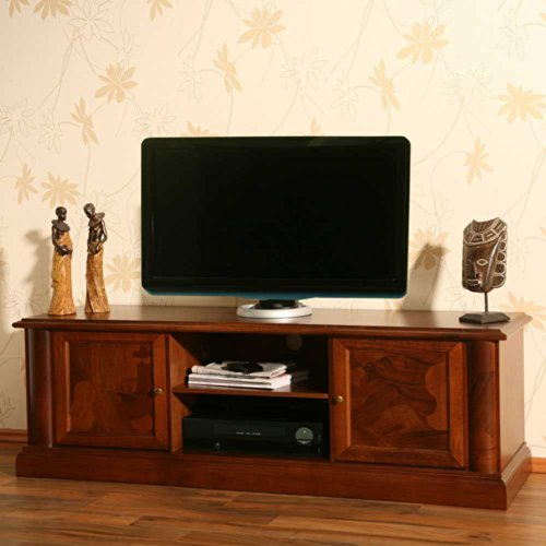 tv lowboard alberto aus nussbaum antik teilmassiv pharao24. Black Bedroom Furniture Sets. Home Design Ideas