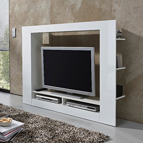 tv medienwand anbauwand wohnwand hochglanz wei b h t 152 x 113 x 31 cm tv fachma 113 x. Black Bedroom Furniture Sets. Home Design Ideas