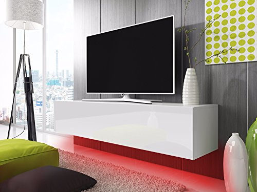 tv schrank lowboard h ngeboard simple mit led rot wei matt wei hochglanz 160 cm m bel24. Black Bedroom Furniture Sets. Home Design Ideas