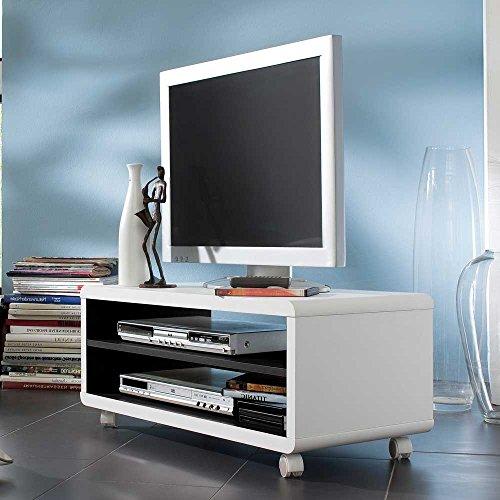 tv wagen in schwarz wei 80 cm breit pharao24 0 m bel24 shop xxxl. Black Bedroom Furniture Sets. Home Design Ideas