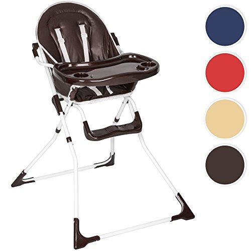 TecTake Kinderhochstuhl Babyhochstuhl klappbar -diverse Farben- (Braun)