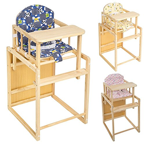 tectake kinderhochstuhl kombihochstuhl hochstuhl babyhochstuhl holz baby stuhl tisch 2 in 1. Black Bedroom Furniture Sets. Home Design Ideas