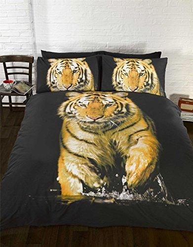 tiger orange gelb schwarz wei einzelbett bettbezug 135cm x 200cm m bel24 shop xxxl. Black Bedroom Furniture Sets. Home Design Ideas