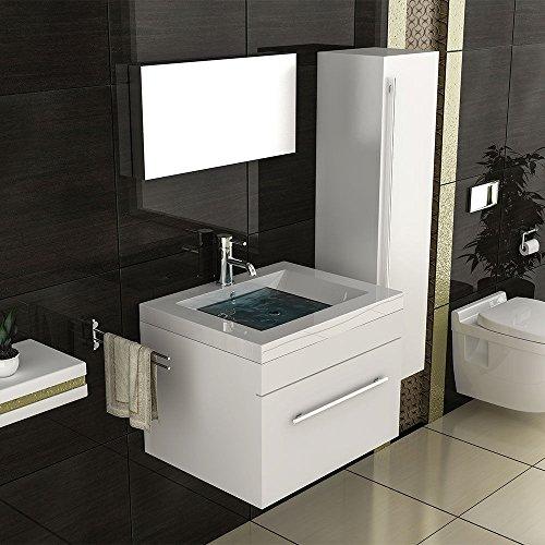 weiss badmbel waschbecken mit unterschrank waschtischunterschrank eckig mbel modell mika weiss. Black Bedroom Furniture Sets. Home Design Ideas