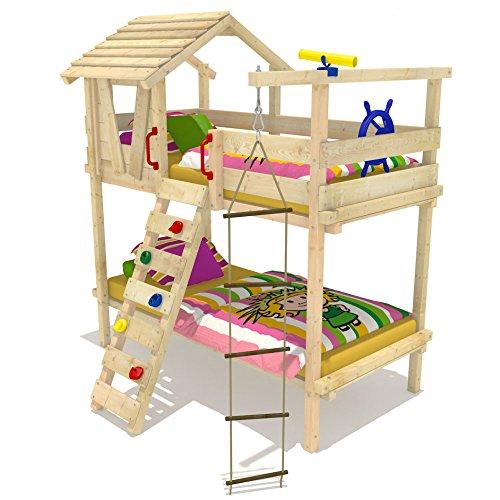 WICKEY Etagenbett Jungle Hut Duo Hochbett für zwei Kinder Kinderbett inkl. Lattenboden 90x200cm