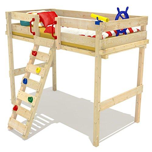 Wickeydream Hochbett Kinderbett Ruggey inkl. Lattenboden 90x200cm