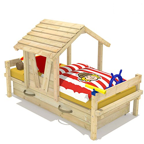 Wickeydream Spielbett Kinderbett Abenteuerbett Party House inkl. Lattenboden 90x200cm