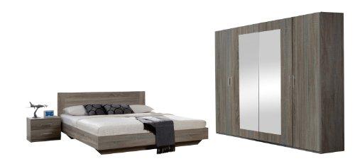 wimex 749323 schlafzimmer set bestehend aus bett 180 x 200 cm nachtschrankpaar je zwei. Black Bedroom Furniture Sets. Home Design Ideas