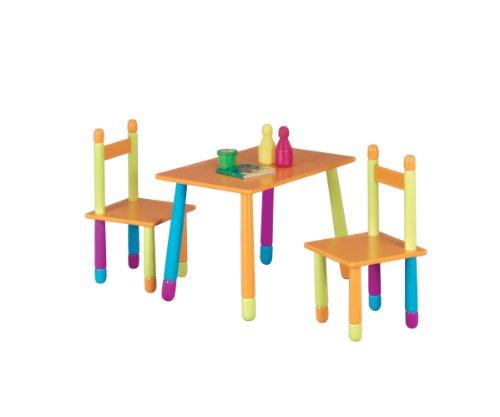 """Zeller 13455 Kinder-Sitzgarnitur """"Color"""", 3-teilig, MDF / 40 x 60 x 42, 28 x 28 x 53"""