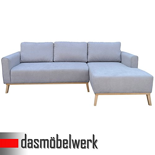 dasm belwerk polsterecke ecksofa couch eckcouch l form sofa 2 55 m platin otomane reclair. Black Bedroom Furniture Sets. Home Design Ideas