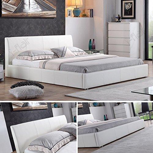 i-flair® - Designer Polsterbett, Bett MONACO 160cm x 200cm weiß - alle Farben & Größen