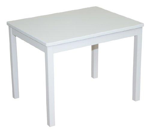 roba Kindertisch, Tisch weiß zum Spielen im Kinderzimmer, HxBxT: 51x66x50 cm