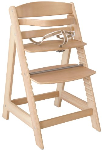 roba 7562 Treppenhochstuhl Sit Up III, mitwachsender Hochstuhl vom Babyhochstuhl bis zum Jugendstuhl, Holz, naturfarben