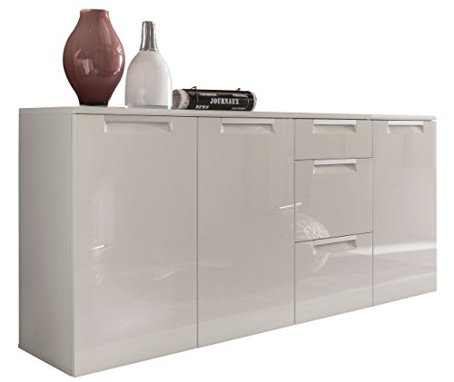 trendteam al87601 sideboard wohnzimmerschrank weiss. Black Bedroom Furniture Sets. Home Design Ideas