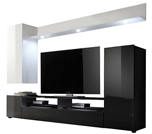 trendteam ds94702 wohnwand wohnzimmerschrank weiss. Black Bedroom Furniture Sets. Home Design Ideas