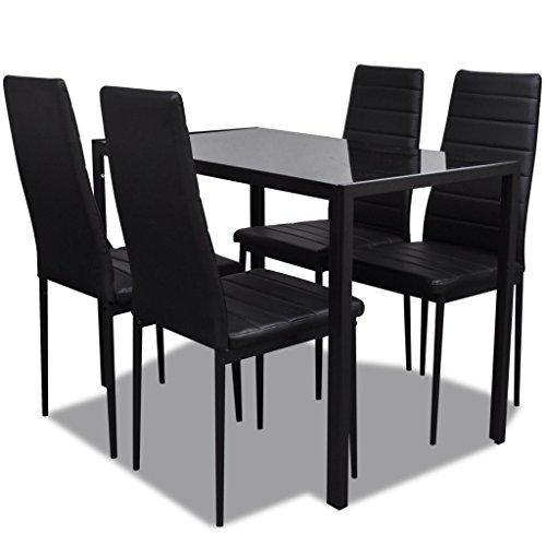 vidaXL Essgruppe Esstisch mit 4 Stühlen Esszimmerstühle Garnitur Stuhl Tisch