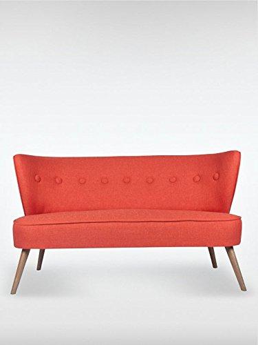 2 sitzer vintage sofa couch garnitur brentwood rot 141 cm. Black Bedroom Furniture Sets. Home Design Ideas
