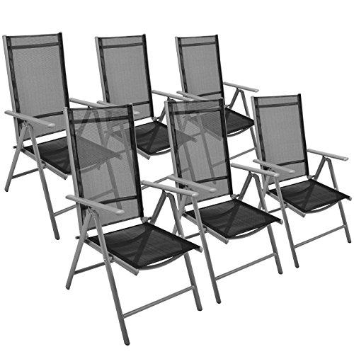 6er set klappstuhl gartenstuhl campingstuhl liegestuhl sitzm bel garten terrasse balkon. Black Bedroom Furniture Sets. Home Design Ideas